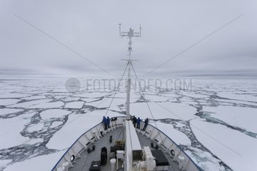 Polar ship in the ice - Ross Sea Antarctic