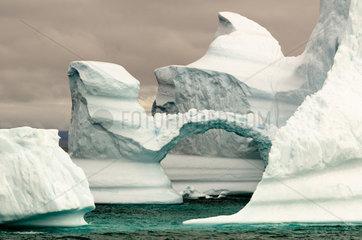 Iceberg presenting an arch  Greenland