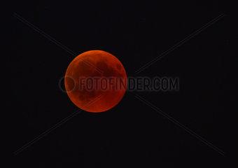 Moon eclipse of July 27  2018  Regional Natural Park of Vosges du Nord  France