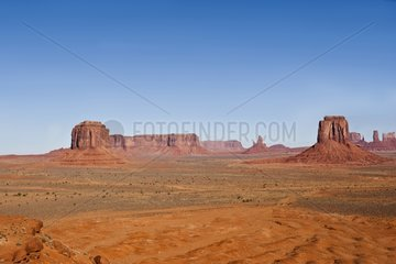 Landscape along the Valley Drive in Monument Valley USA