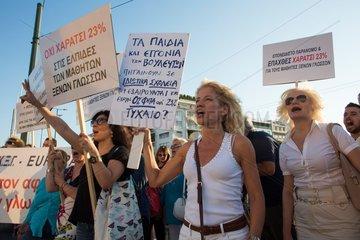 demonstration in greece