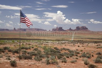 Monument Valley and Stars and Stripes - Arizona USA