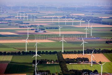 windmill park in de polder  the Netherlands