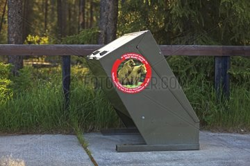 Garbage in bear-proof PN Kootenay in Canada