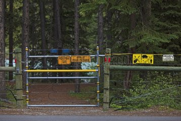 Electrified fence of the camp against Bear Canada