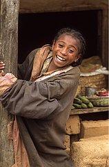 Young smily girl Highlands of Madagascar