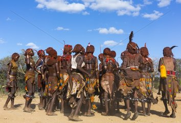 Hamer women at a ceremony - Omo valley Ethiopia