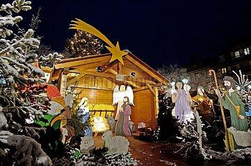 Crib at the market of Christmas of Saverne Bas-Rhin