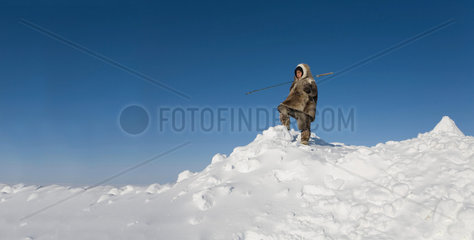 Inuits living on the Northpole
