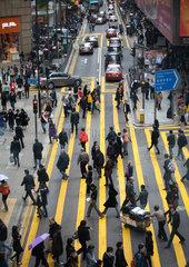 people in downtown Hongkong