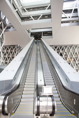 escalator to underground in Hongkong