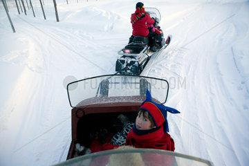 transport (sledge) in Finland