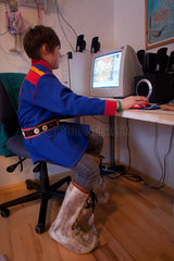sami boy in the north of Finland