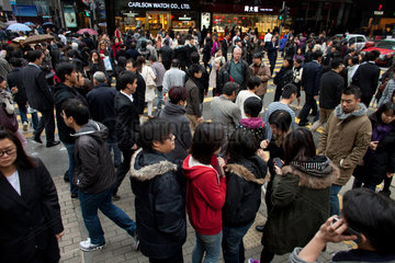 people in downtown Hongkong