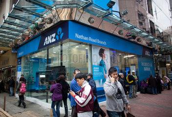 ANZ bank in Hongkong