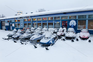 snowmobiles in Finland