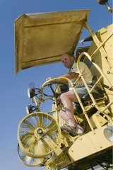 Combine harvester without cabin France