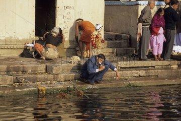 Vie quotidienne au bord du Gange Inde