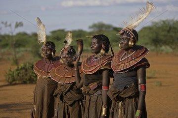 Women during Pokot Sapana Ceremony in Kenya