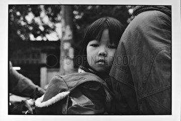 Young Vietnamese on their way to school in Hanoi Vietnam