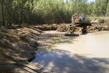 Restoration of an overgrown pond Luberon France