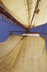 Sails of the old sailboat Le Bel Espoir