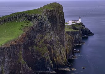 Cliffs and Neist Point lighthouse - Isle of Skye Scotland UK