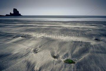 Talisker Bay at dusk - Isle of Skye Scotland UK