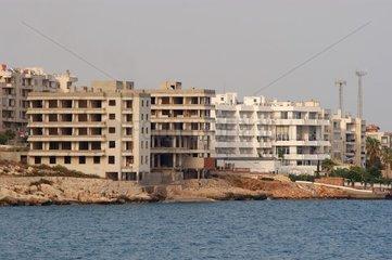 Immeubles en front de mer Méditerranée Turquie