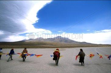 Beaters Capturing Vicugnas Ciaccu Altiplano Peru