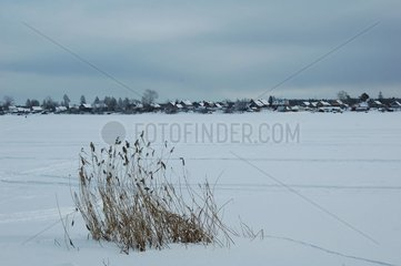 Cold Lake Ladoga in Novaya Ladoga Russia