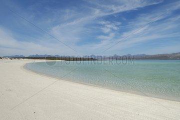Sand beach and lagoon of Isla Coronado