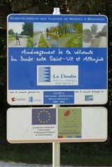 Véloroute planning panel France