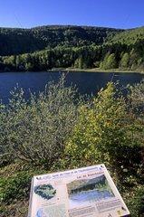 Panneau informatif au lac de Blanchemer France