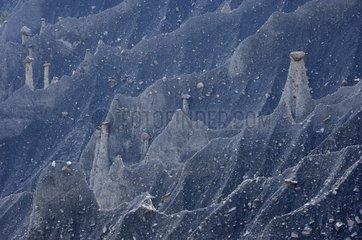 Fairy chimneys in the Gappenais Hautes Alpes France