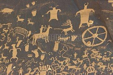 North american rupestral carving at Newspaper Rock Utah USA