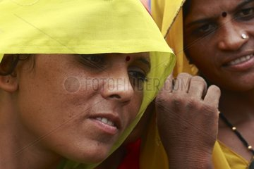 Portrait of young Indian women Mathura India