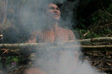 Preparation of blowpipess Tau't Batu Palawan Philippines