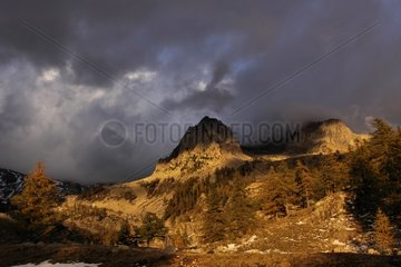Caïre of the Madonna in the clouds Mercantour NP France