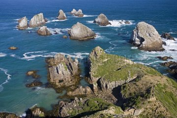 Offshore rocks at Nugget Point the Catlins New Zealand