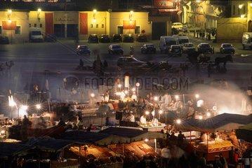 Marrakech  place Jemaa el Fna  le soir