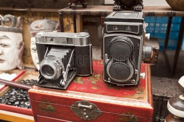 Cameras on the flea market in Shanghai China