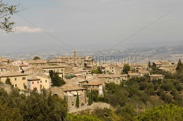Wine-producing village of Montalcino in Tuscany Italy