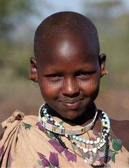 Portrait of Masai girl Tanzania