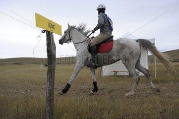 Start of a horse race La Citerne Florac France