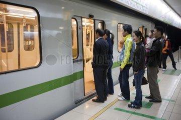 Subway in Shanghai China