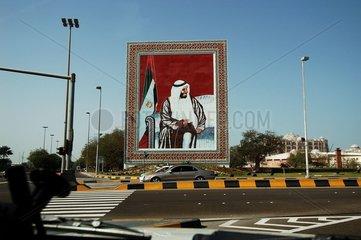 Portrait du Sheikh Zayed Abu Dhabi Emirats Arabes
