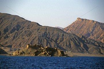 Fortress on the Pharaon Island in Aqaba Gulf Egypt