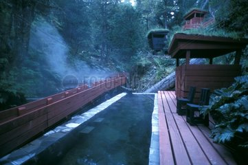 Termas Geometricas in the middle of the forest in Chile