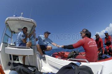 Training of police brigade nautical Reunion island